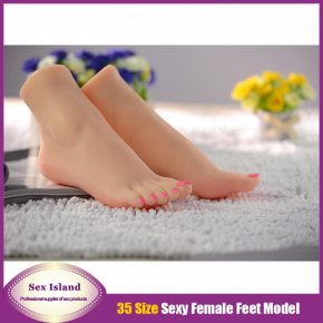 Simulation silicone feet model real skin texture / shoe mold full mold beautiful