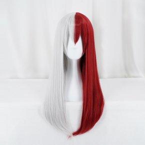 Cosplay Costume Boku Hero Academia Red and White Hair Halloween Party Wigs Todoroki Shoto