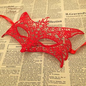 Wolf Mask Red lace party Ball mask carnaval masks sexy Masquerade mask