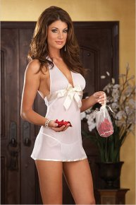 white bowknot underwear