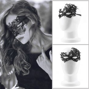 2Pcs Design Women Costume Eye Mask Sexy Lace Eye Mask Venetian Masquerade Ball Hallo