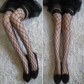 New Sexy Women Tights Stockings Lace Top Sheer Thigh High Silk Stockings Solid N
