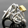 Super Small Male Chastity Device 35MM Adult Cock Cage With arc-shaped Cock Ring