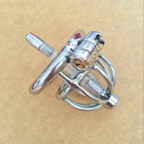Latest Design Small Male Chastity Device 45MM Adult Cock Cage With Urethral Catheter
