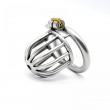 Stainless steel chastity cage steel cock cage male chastity belt penis ring lock