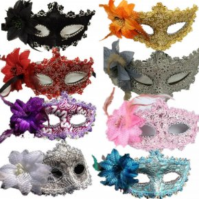 Flower Halloween mask sexy masquerade masks Dance Party Bar Princess Venice Mask
