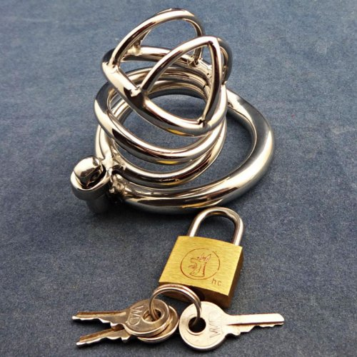 Super Small Male Chastity Device 45MM Adult Cock Cage With arc-shaped Cock Ring
