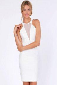 white backless sleeveless dresses