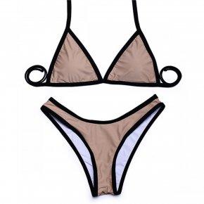 Trangel high cut bikinis 2017 New arrival sexy women bikini swimwear solid beachwear