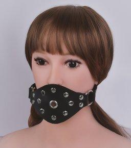 Mouth Gag BDSM Bondage Gear Leather