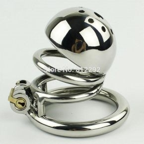 Male Chastity Device 60MM Adult Cock Cage BDSM Sex Toys For Men Stainless Steel