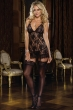 black lingerie with garter