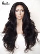 Aurica Fashion Long Bouncy Soft Bodywave Natural Black Off Resistant Hair Synthetic