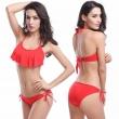 Sexy Women's Swimwear Bandage Bikinis Flounced Top 2017 Brazilian Push Up Bikini