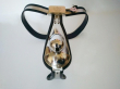 TOP male chastity belt stainless steel chastity device with arc-shaped Waistline