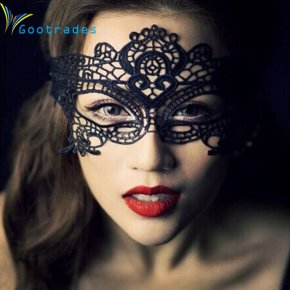 1pc 2016 New Girls Women Hot sales Black Sexy Lady Lace Mask Cutout Eye Mask for