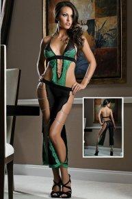 green sexy garter belts