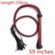 59 Inches Leather Whip Beating Slave Game Pain Obey Master Bdsm Bondage Sex Toys