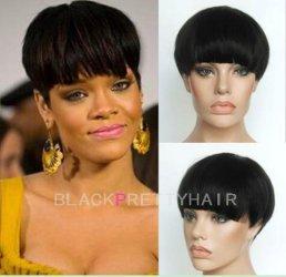 Celebrity Human Short Hair Pixie Cut Wigs Brazilian Bob Haircuts Cheap African Ameri