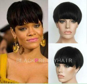 Celebrity Human Short Hair Pixie Cut Wigs Brazilian Bob Haircuts Cheap African Ameri