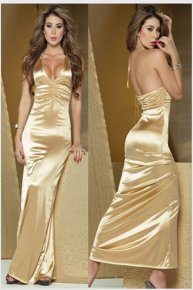 golden shoulder gown