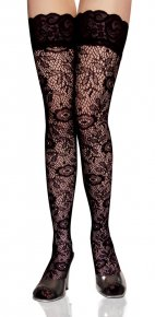 Sexy Women Fashion Ultrathin Lace Top Sheer Thigh High woman Silk Stockings roupa