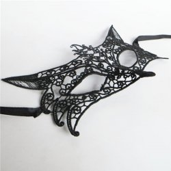 Hot Sale 1Pc Black White Sexy Lady Lace Masks Cutout Eye Masks for Halloween Masquer