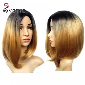 ombre synthetic wigs cheap short blonde wigs synthetic sexy female short haircut