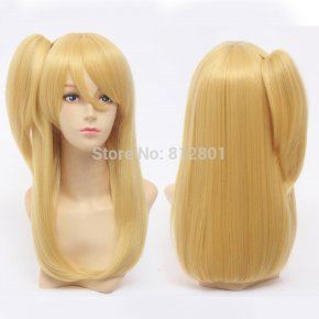 New ! Cosplay Party Wigs Women FAIRY TAIL Lucy Heartphilia Long Golden Natural Strai