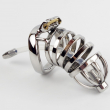 New Male chastity device stainless steel metal penis lock chastity penis ring chasti