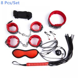 1 set/lot New 8 Pcs or 10 Pcs/Set Sex Bondage Kit Fetish Restraint Adult Games To