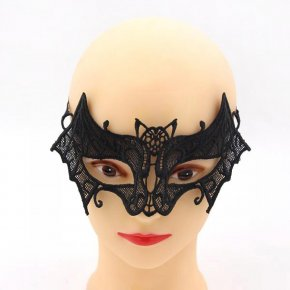 5PCS/Lot Hot Sales Black Sexy Lady Lace Mask Cutout Eye Mask For Masquerade Part