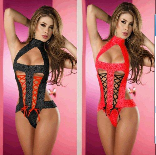 Red black pink lingerie garters