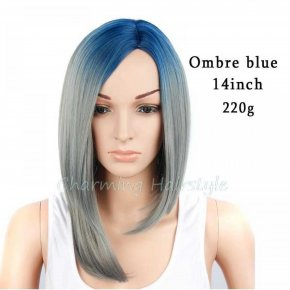 Ombre Blonde Wig Synthetic Wigs for Black Women Ombre Female Hair Short Straight
