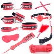 High Quality Flirt Adult Sex Toys BDSM Role Play Eye mask Spanking Paddle Handcuffs