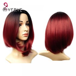 ombre synthetic wigs burgundy bob wigs cheap synthetic sexy female short haircut