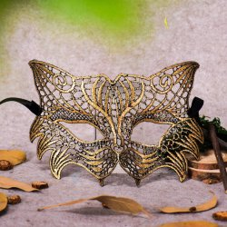 PMYUMAO Sexy Fox Woman Masks Hard Lace Mask for Party Dance Dress Halloween Lad
