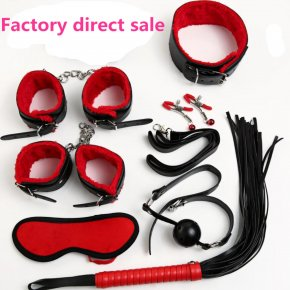 pu New 7 Pcs/Set Sex Bondage Kit Fetish Restraint Adult Games Toys Foot Handcuff