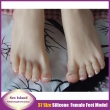 New size 37 real skin texture silicone fake feet male masturbation toys Foot Fetish
