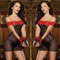 Women's Sexy Lace Underwear Lingerie Babydoll Sleepwear Dress Chemise G-String