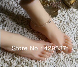 Top Quality Fake Foot for Displaying, Foot Fetish Doll, Lifelike Female Feet,Full