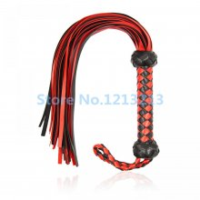 Handmade Flirt whip couples Adult Games Bondage Spanking PU Leather Flogger With