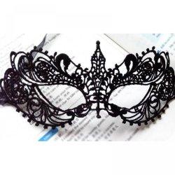 2Pcs Halloween Sexy Lady Black Lace Mask Cutout Eye Mask For Masquerade Party Fanc