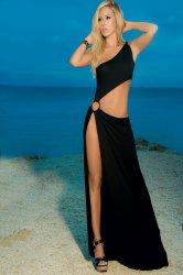 black dew waist of the dress