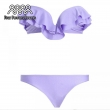 Women Purple Lacework Bikini Set Biquini Sexy vintage Swimsuit Push Up Bikinis Swimw