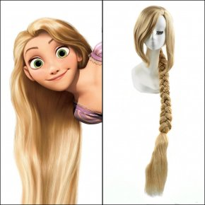 40inches Blonde Long Straight Anime Tangled Princess Rapunzel Cosplay Harajuku Women
