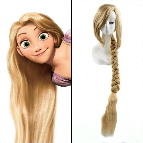 40inches Blonde Long Straight Anime Tangled Princess Rapunzel Cosplay Harajuku Women