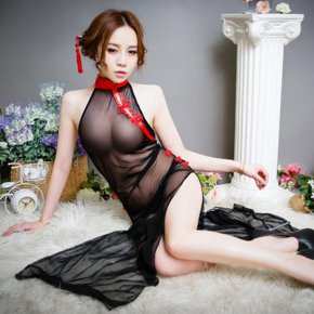 sexy lingerie women hot sex costumes underwear Sexy Costumes Long cheongsam perspect