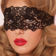 1PC Black Sexy Lace Mask Cutout Eye Mask For Halloween Masquerade Party Fancy Dress