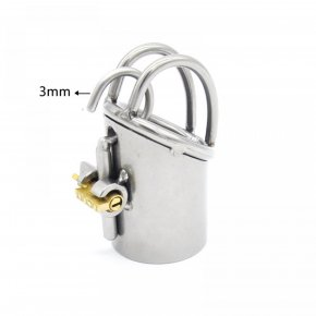 New Arrival PA Lock Male Chastity Belts Stainless Steel Chastity Device Bondage